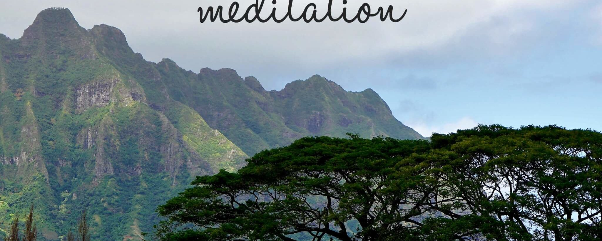 Meditation. Nothing Matters Unless You Make It Matter.